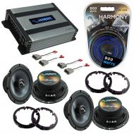 Compatible with Honda Civic 2001-2005 Factory Speakers Replacement Harmony (2) C65 & Harmony ...