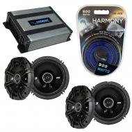 Compatible with Hyundai Tucson 2005-2009 Speaker Replacement Kicker (2) DSC65 & Harmony HA-A4...