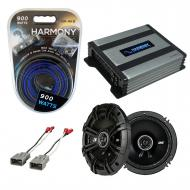 Compatible with Honda S2000 2000-2009 Speaker Replacement Kicker DSC65 & Harmony HA-A400.4 Am...