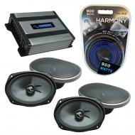 Compatible with Jeep Compass 2007-2017 OEM Speakers Replacement Harmony (2) C69 & Harmony HA-...