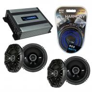 Compatible with Mercedes SLK-Class 05-11 Speaker Replacement Kicker (2) DSC65 & Harmony HA-A4...
