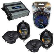 Compatible with Mercury Cougar 1999-2002 OEM Speaker Replacement Harmony (2) R68 & Harmony HA...