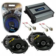 Compatible with Mercury Villager 93-95 Speaker Replacement Kicker (2) DSC68 & Harmony HA-A400...