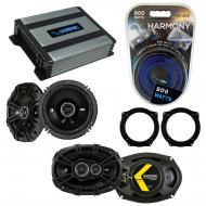 Compatible with Mini Cooper (convertible) 07-08 Speaker Replacement Kicker DS Coax & Harmony ...