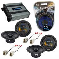 Compatible with Nissan 200SX 1980-1988 Speaker Replacement Harmony (2) R65 & Harmony HA-A400....