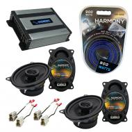 Compatible with Nissan 240SX 1989-1994 Speaker Replacement Harmony (2) R46 & Harmony HA-A400....