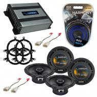 Compatible with Toyota Corolla 2001-2002 Factory Speaker Replacement Harmony (2) R65 & Harmon...