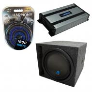 "Universal Car Stereo Slotted S Port Single 8"" Alpine Type S S-W8D4 Sub Box Enclosure with Ha..."