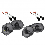 2001-2012 Ford Escape Kicker Factory 5x7 6x8 Coaxial Speaker Replacement (2) CS684 Package