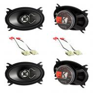 Chevy CK Silverado 88-94 Regular Cab Truck Kicker Factory Speaker Replacement (2) KS46 Package