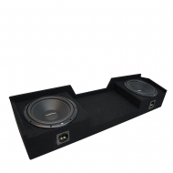 2004-2015 Nissan Titan King or Crew Truck Rockford Prime R1S410 Dual 10 Sub Box Enclosure - Final...