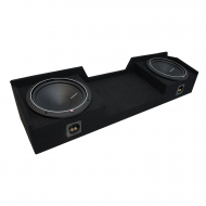2004-2015 Nissan Titan King or Crew Truck Rockford Punch P1S412 Dual 12 Sub Box Enclosure - Final...
