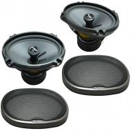 Fits Toyota Yaris iA 2017 Rear Deck Replacement Speaker Harmony HA-C69 Premium Speakers