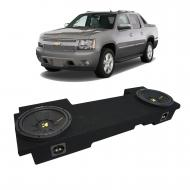 """02-13 Chevy Avalanche Underseat Kicker CompC CWCS10 Dual 10"""" Sub Box Package New"""