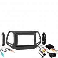 Jeep Compass 2017 2018 Double DIN Stereo Harness Radio Install Dash Kit New