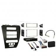 Ford Fusion 2010 2011 2012 Single or Double DIN Stereo Radio Install Dash Kit Black