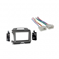 Kia Sportage 2011 2012 2013 2014 2015 2016 Double DIN Stereo Harness Radio Install Kit   Grey Dash