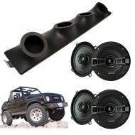 "Suzuki Samurai Kicker System KSC50 Custom Quad (4) 5 1/4"" Speakers Power Sports UTV Pod"