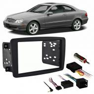 Mercedes CLK Class 2004 Double DIN Stereo Harness Radio Install Dash Kit Package