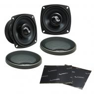 "Harmony Audio HA-C4 Car Stereo Carbon Series 4"" Replacement 170W Speakers Pair Bundle with H..."