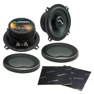 """Harmony Audio HA-C5 Car Stereo Carbon 5.25"""" Replacement 250W Speakers & Grills Bundle wi..."""