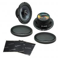 "Harmony Audio HA-C65 Car Stereo Carbon 6.5"" Replacement 350W Speakers & Grills Bundle wi..."