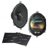 """Harmony Audio HA-C68 Car Stereo Carbon 5x7"""" 5x7"""" Replacement 275W Speakers Bundle with ..."""
