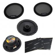 "Harmony Audio HA-65 Car Stereo Rhythm Series 6.5"" Replacement 300W Speakers & Grills Bun..."