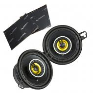 "Kicker 46CSC354 Car Audio 3 1/2"" Coaxial Full Range Stereo Speakers Pair CSC35 Bundle with H..."