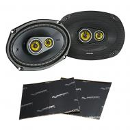 "Kicker 46CSC6934 Car Audio 6x9"" 3-Way Full Range Stereo Speakers Pair CSC693 Bundle with Har..."