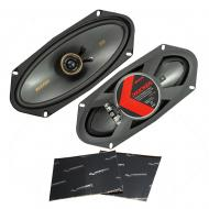 "Kicker 47KSC41004 Car Audio 4x10"" Coaxial 300W Peak Full Range Speakers KSC41004 Bundle with..."