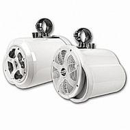 """Bazooka MT8252WS 8"""" White Double Ended Marine Tubbies Wakeboard Speakers (Pair)"""