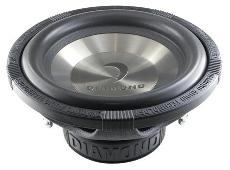 Diamond D112D4 Car Audio D1 Series 250W Dual 4 Ohm Subwoofer
