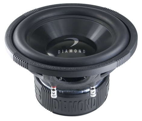 Diamond D312D4 Car Audio D3 Series 400W Dual 4 Ohm Subwoofer