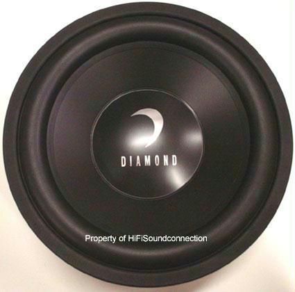 Diamond Audio D315D4 500 Watts 15 Inch Car Audio Subwoofer
