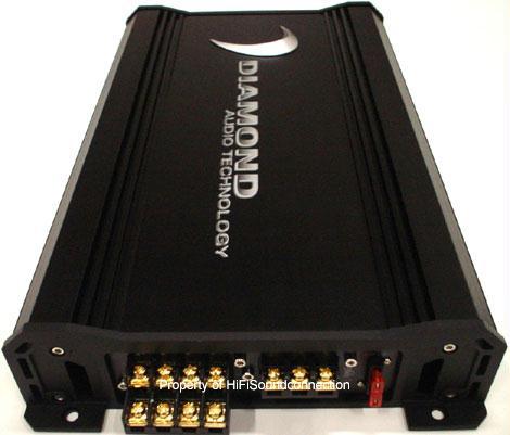 Diamond Audio D3400.4 Car Audio 4 Channel Sub Woofer Speaker Amplifier