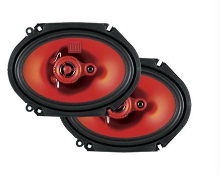 Dual XS683 3-Way 6x8 Car Audio Speakers 120 Watts