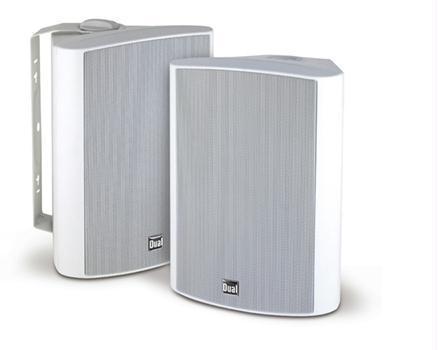 """Dual LU53PW 5.25"""" 3-Way Indoor/Outdoor Speaker White"""