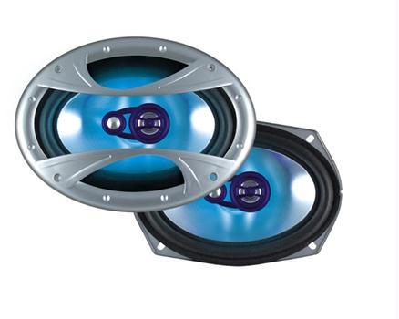 """Dual Xin6X93 3-Way 6""""x9"""" Illuminite Speakers 150 Watts"""