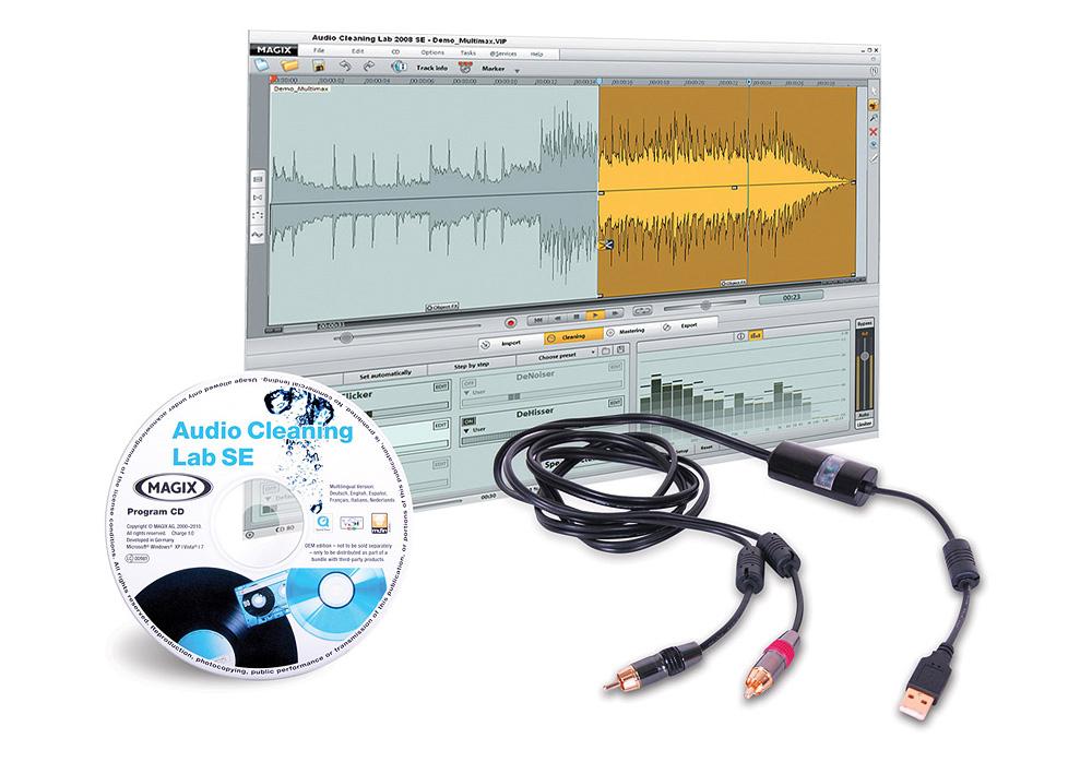 DJ Tech RCA-2-USB Internal analog -to-digital conversion system 120 cm inlength