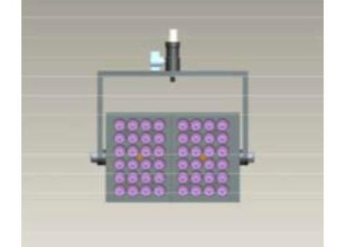 Elation TVL3B21 Joining Bracket on 2 pieces TVL3000 LED Light