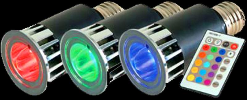 Elation MR RGBE27II PAK High Power Color Changing E27 Socket (medium screw base) LED Lamps