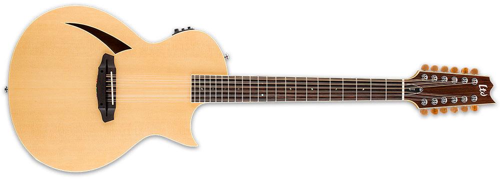 ESP LTD TL-12S NAT 12-String TL-Series Acoustic-Electric Guitar - Natural Gloss Finish (LTL12NAT)