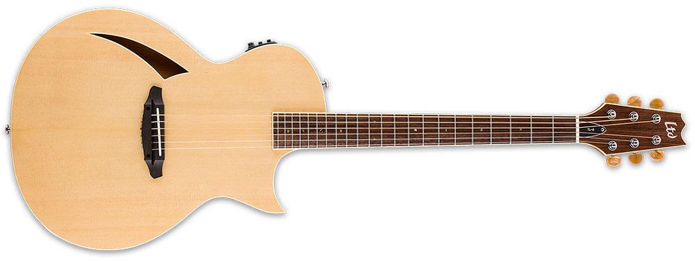 ESP LTD TL-6S NAT 6-String TL-Series Acoustic-Electric Guitar - Natural Gloss Finish (LTL6NAT)