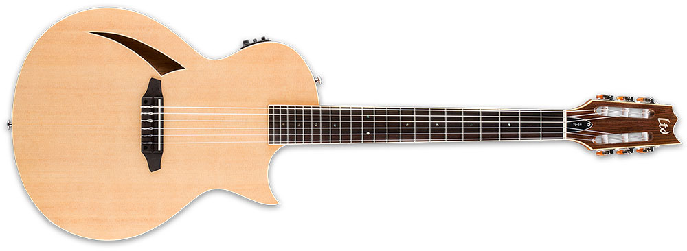 ESP LTD TL-6N NAT Nylon 6-String TL-Series Acoustic-Electric Guitar - Natural Gloss Finish (LTL6NNAT)
