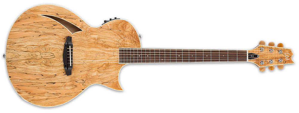 ESP LTD TL-6SM NAT 6-String TL-Series Spalted Maple Top Acoustic-Electric Guitar - Natural Gloss Finish (LTL6SMNAT)
