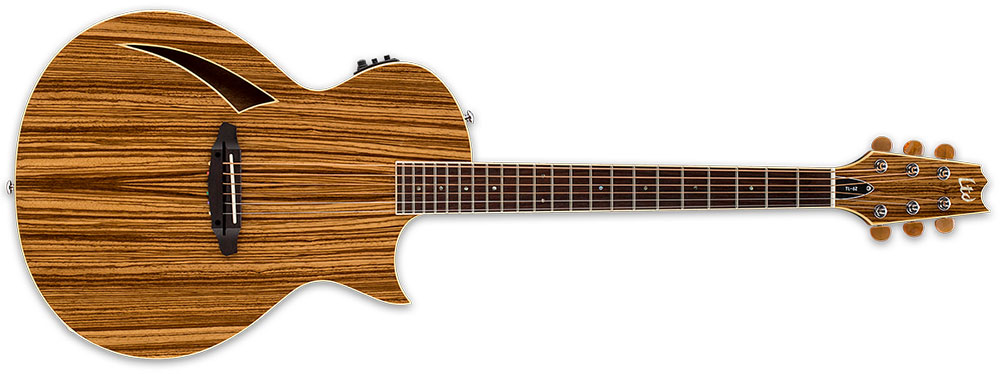 ESP LTD TL-6Z NAT 6-String Zebrawood Top TL-Series Acoustic-Electric Guitar - Natural Gloss Finish (LTL6ZNAT)