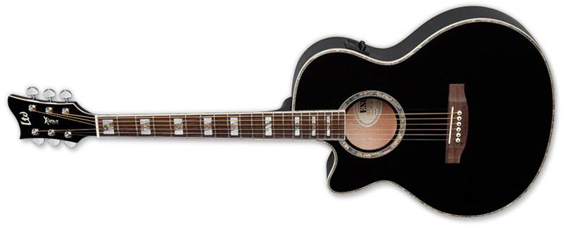ESP LTD AC-10E LH Xtone Acoustic Guitar for Left Handed Black Finish (XAC10EBLKLH)