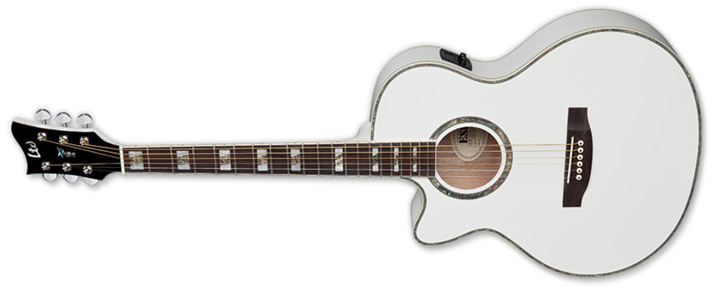 ESP LTD AC-10E LH Xtone Acoustic Guitar for Left Handed Pearl White Finish (XAC10EPWLH)