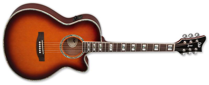ESP LTD Xtone Ac-10E Acoustic-Electric Guitar Tobacco Sunburst Finish (XAC10ETSB)